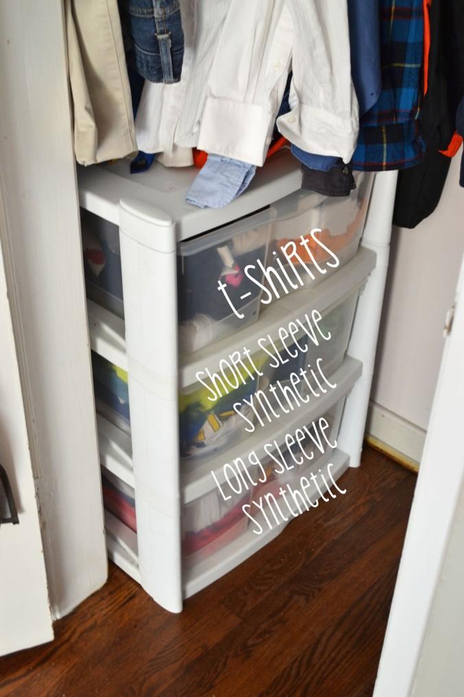 His Closet After